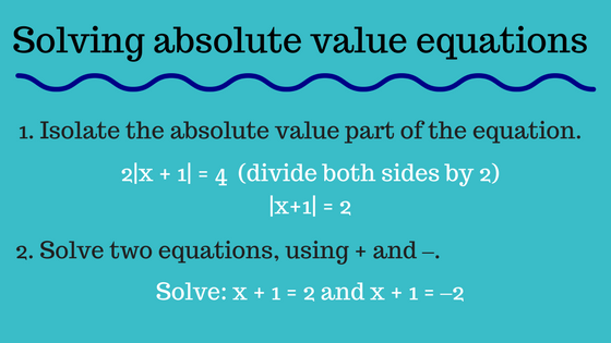 Absolute value equations - MathBootCamps