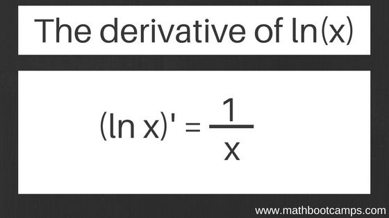 The derivative of lnx and examples - MathBootCamps