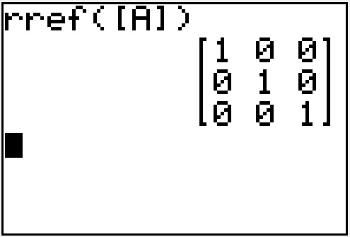 Row reduction with the TI83 or TI84 calculator (rref) - MathBootCamps
